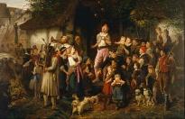 Fritz_Beinke_-_The_juggler-_a_village_fair_-_Google_Art_Project