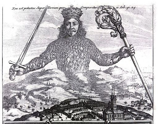 """Detail of the original cover of """"Leviathan"""" by Thomas Hobbes"""