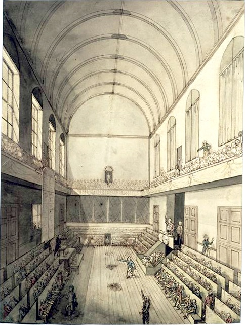 The Salle du Manège: where the Right and Left of the National Constituent Assembly would debate during the French Revolution.