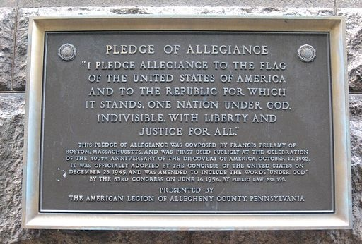 "Americans have frequently been pressured to say ""one nation . . . , indivisible"" as part of a pledge, but some thoughtful students of American history suggest that this is a nationalistic deviation that contradicts the original federate model of the United States as a union of sovereign States."