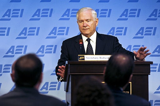 Defense.gov_News_Photo_110524-D-XH843-006_-_Secretary_of_Defense_Robert_M._Gates_addresses_the_audience_at_the_American_Enterprise_Institute_in_Washington,_D.C.,_on_May_24,_2011._ (1)