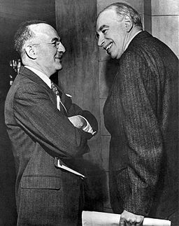 John Maynard Keynes and Assistant U.S. Treasurey Secretary Harry Dexter White