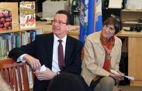 Governor Dannel Malloy and Congresswoman Rosa DeLauro