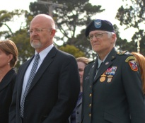 Lt. Gen. (Ret.) James R. Clapper, now Director of National Intelligence with Col. Sue Ann Sandusky.