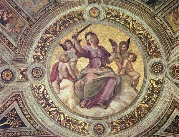 Raphael's Lady Justice from the Stanza della Segnatura, Vatican City