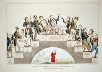 A lithograph by Nathaniel Currier supporting the temperance movement.