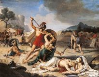 Battle of the Horatii and the Curiatii by Fulchran-Jean Harriet, Paris