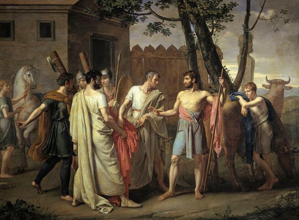 Cincinnatus leaves the plow by Juan Antonio Ribera, 1806