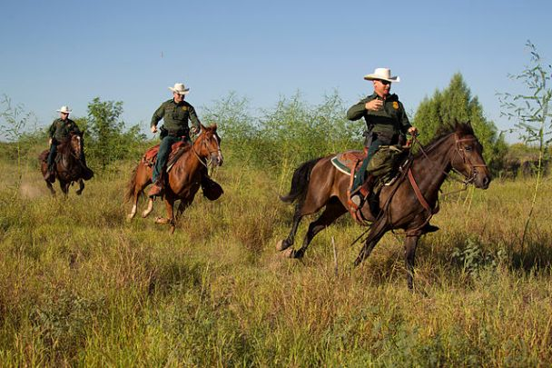 """South Texas, Border Patrol Agents, McAllen Horse Patrol Unit"" by US Customs and Border Protection. Photographer: Donna Burton"