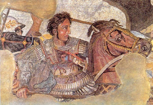 Alexander the Great and Bucephalus at the Battle of Issus, Museo Nazionale di Napoli, Italy