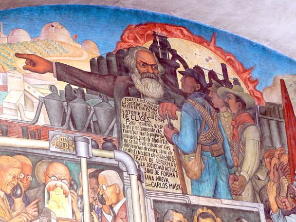 """Murales Rivera - Treppenhaus 7 Marx"" by Wolfgang Sauber - Own work."