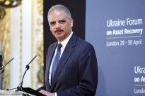 """Eric Holder at the Ukraine Forum on Asset Recovery (14038928936)"" by Foreign and Commonwealth Office - Ukraine Forum on Asset Recovery."