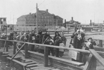 Immigrants entering the United States through Ellis Island, 1902