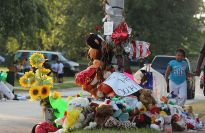 Memorial for Michael Brown in Ferguson, Missouri.
