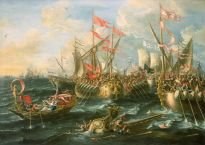 The Battle of Actium, by Laureys a Castro, National Maritime Museum, London