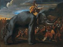 Hannibal crossing the Alps, attributed to Nicolas Poussin, private collection