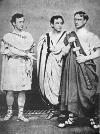 "John Wilkes Booth (left) playing Caesar in William Shakespeare's ""Julius Caesar,"" 1864"