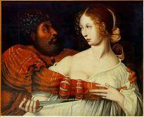 """""""Tarquin and Lucretia,"""" by Jan Sanders van Hemessen, Palais des Beaux-Arts de Lille"""