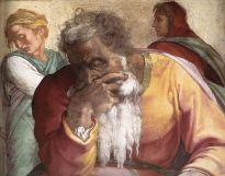 """The Prophet Jeremiah"" by Michelangelo, Sistine Chapel ceiling."