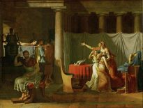 The Lictors Bring to Brutus the Bodies of His Sons, by Jacques-Louis David, Louvre Museum, Paris