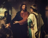 """""""Christ and the Rich Young Ruler"""" by Heinrich Hoffman, Riverside Church, New  York"""