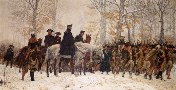 """""""The March to Valley Forge"""" by William B. T. Trego"""