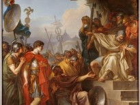 """Manlius Torquatus sentences his son to death"" by Jean-Simone Berthelemy"