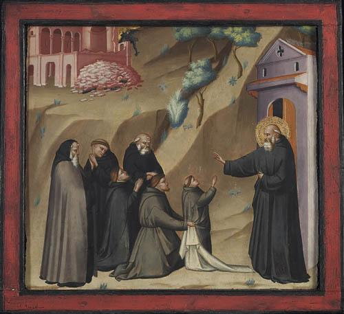 """""""St. Benedict Restores Life to a Young Monk,"""" by Giovanni del Biondo"""