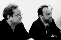 """""""Lawrence Lessig and Jimmy Wales, June 15, 2007"""" by Joi Ito from Inbamura, Japan. Licensed under CC BY 2.0 via Wikimedia Commons."""