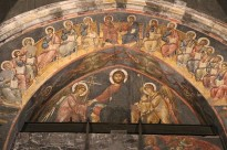 Fresco of Chirst and His Apostles, Genoa. Photo by Sailko - Own work. Licensed under CC BY 3.0 via Wikimedia Commons.