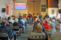 A Country Gospel worship service at Christ Lutheran Church, Fortuna, CA.