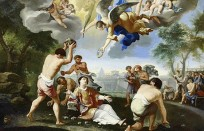 The Stoning of Saint Stephen, attributed to Luigi Garzi. Saint Stephen was one of the first deacons of the church.