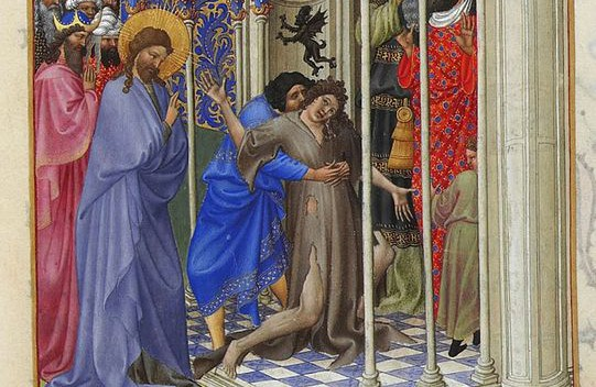 """The Exorcism,"" from Les Très Riches Heures du duc de Berry."