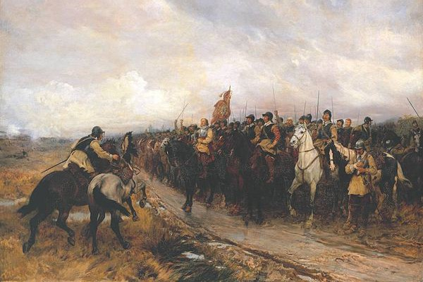 """Cromwell at Dunbar"" by Andrew Carrick Gow, Tate Britain, London."