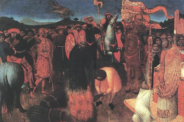 """""""Death of the Heretic on the Bonfire,"""" by Stefano de Giovanni, National Gallery of Victoria, Melbourne"""