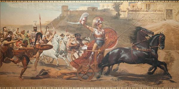 """Triumph of Achilles,"" in the Achilleion, Corfu, Greece by Franz von Matsch. Own work by רנדום, 2011-08-27. Licensed under CC BY-SA 3.0 via Wikimedia Commons."