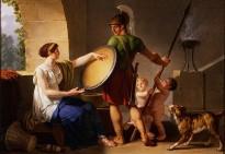 """A Spartan Woman Giving a Shield to Her Son,"" by Jean-Jacques-François Le Barbier, Portland Art Museum"