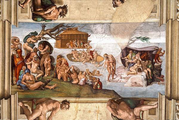 """The Flood,"" by Michelangelo, Sistine Chapel Ceiling, Vatican City."