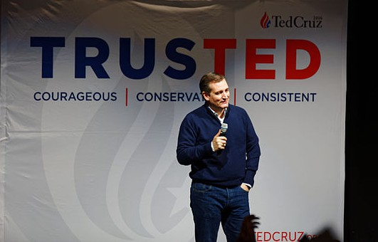 """""""Ted Cruz at Kuhner Town Hall in New Hampshire, February 3, 2016."""" By Michael Vadon - Own work, CC BY-SA 4.0."""