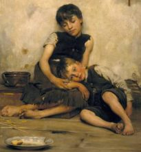 """Orphans,"" by Thomas Kennington, Tate Gallery, London"