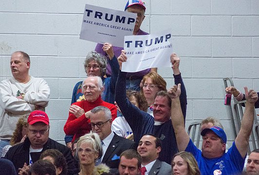"""Are Trump supporters necessarily """"white trash""""?  Photo by Marc Nozell, CC BY 2.0."""