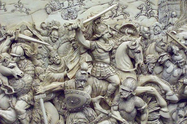 Alexander the Great at the Battle of Gaugamela. Photo by Luis García, CC BY-SA 3.0.