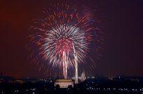 July 4th fireworks in Washington, DC.