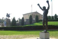Rocky Balboa statue in front of the Philadelphia Museum of Art. Photo by Luigi Novi, CC BY 3.0.