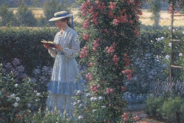 """Sweet Solitude,"" by Edmund Blair Leighton."