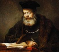 """Scholar at the Lectern,"" by Rembrandt"