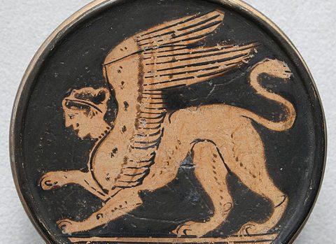 A Greek sphinx. Photo by Marie-Lan Nguyen (2010), CC BY 2.5.