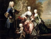 """Count Ferdinand Adolf von Plettenberg and his Family,"" by Robert Tournières, Museum of Fine Arts, Budapest"